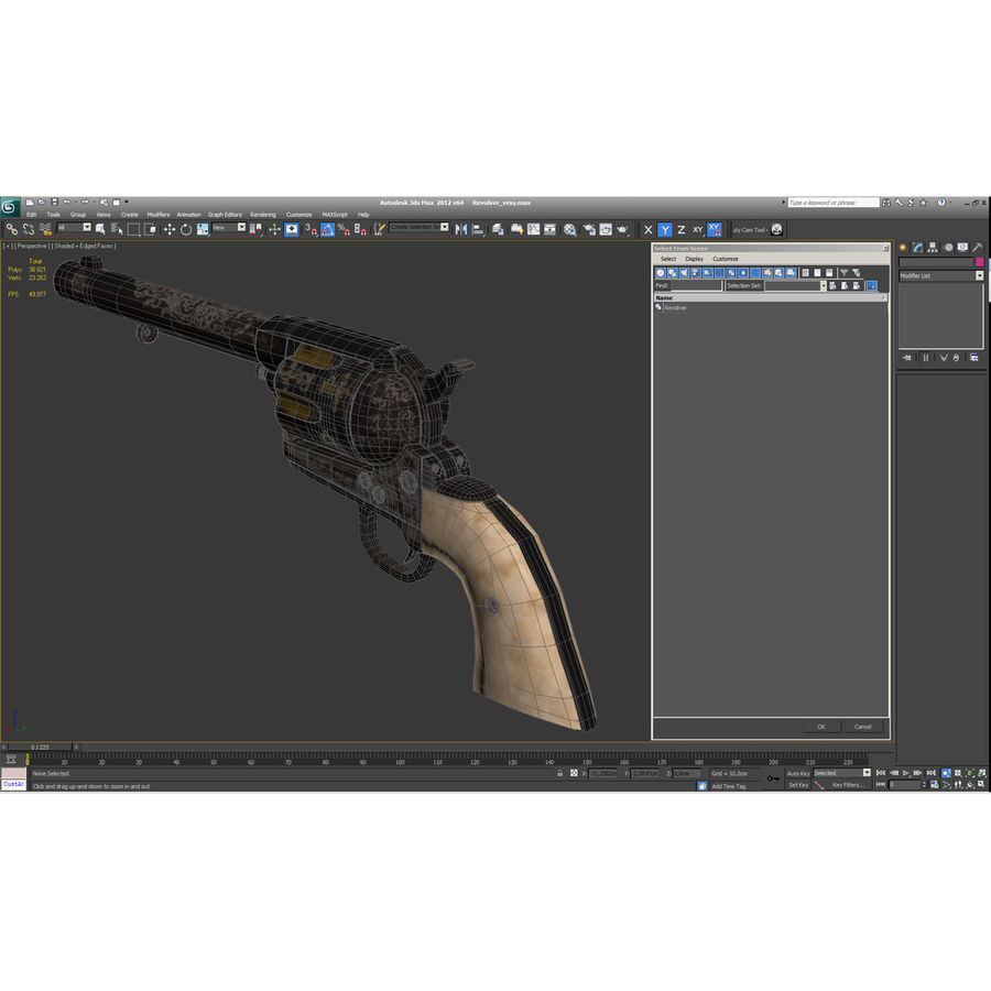 Revolvers-collectie royalty-free 3d model - Preview no. 76
