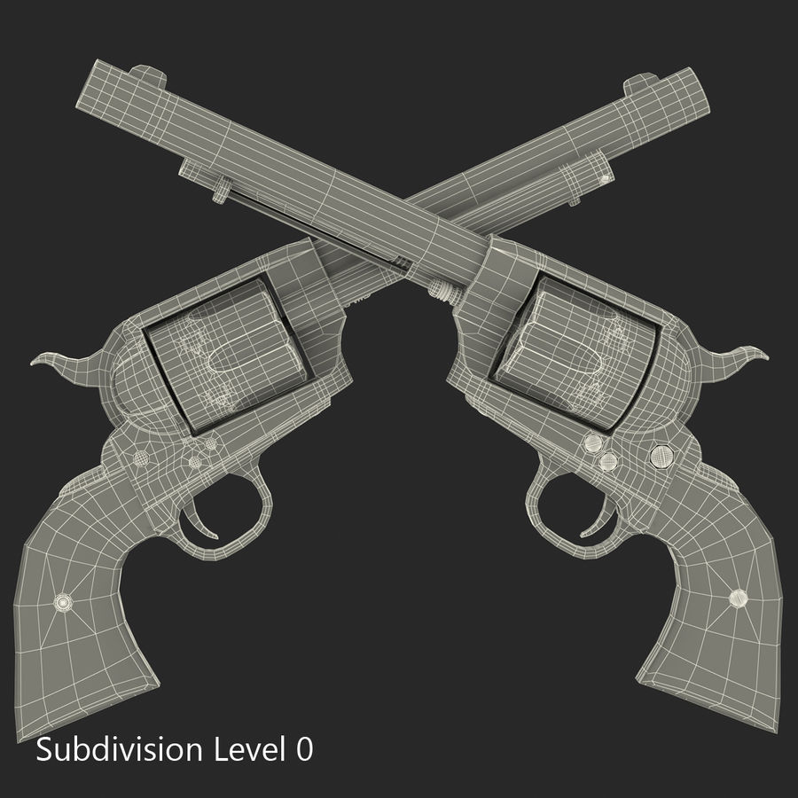 Revolvers-collectie royalty-free 3d model - Preview no. 65