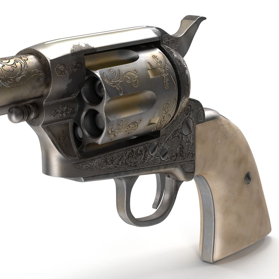 Revolvers-collectie royalty-free 3d model - Preview no. 16