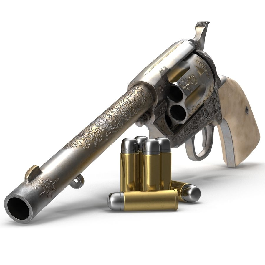 Revolvers-collectie royalty-free 3d model - Preview no. 26