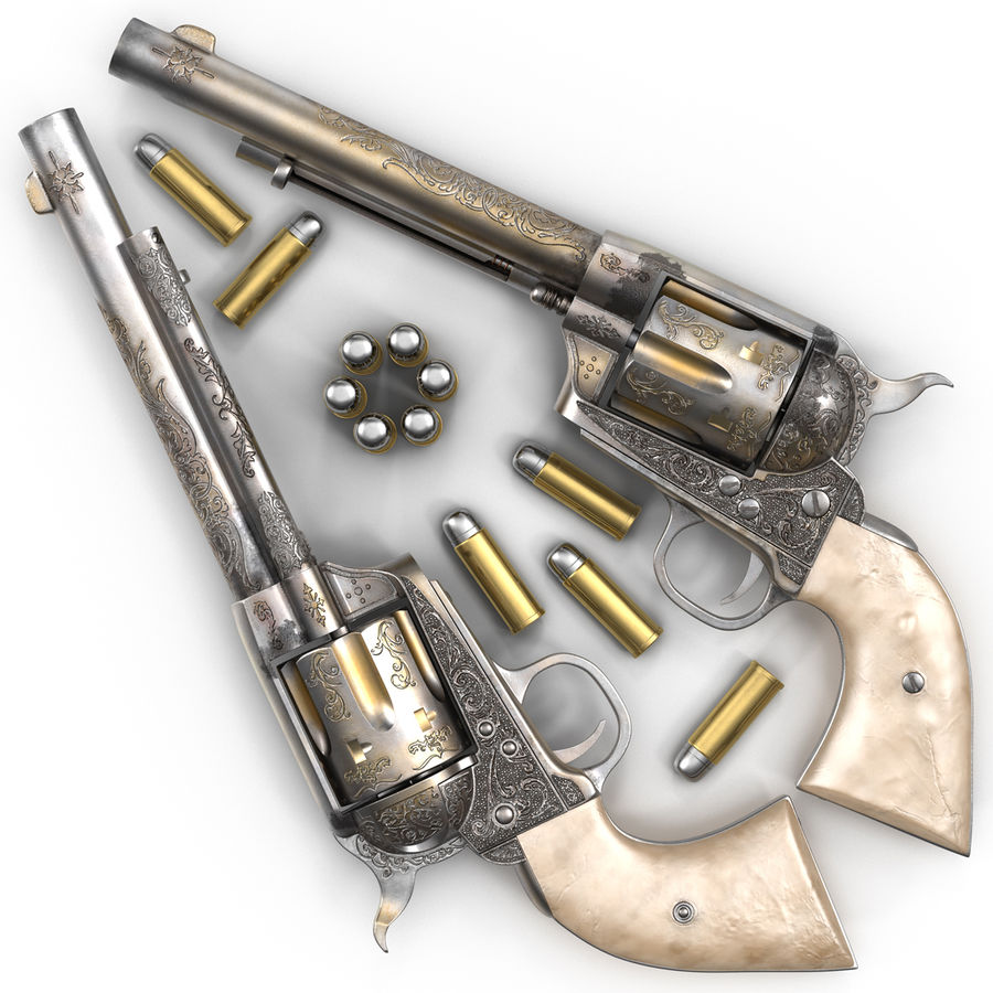 Revolvers-collectie royalty-free 3d model - Preview no. 30