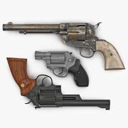 Revolvers-collectie 3d model
