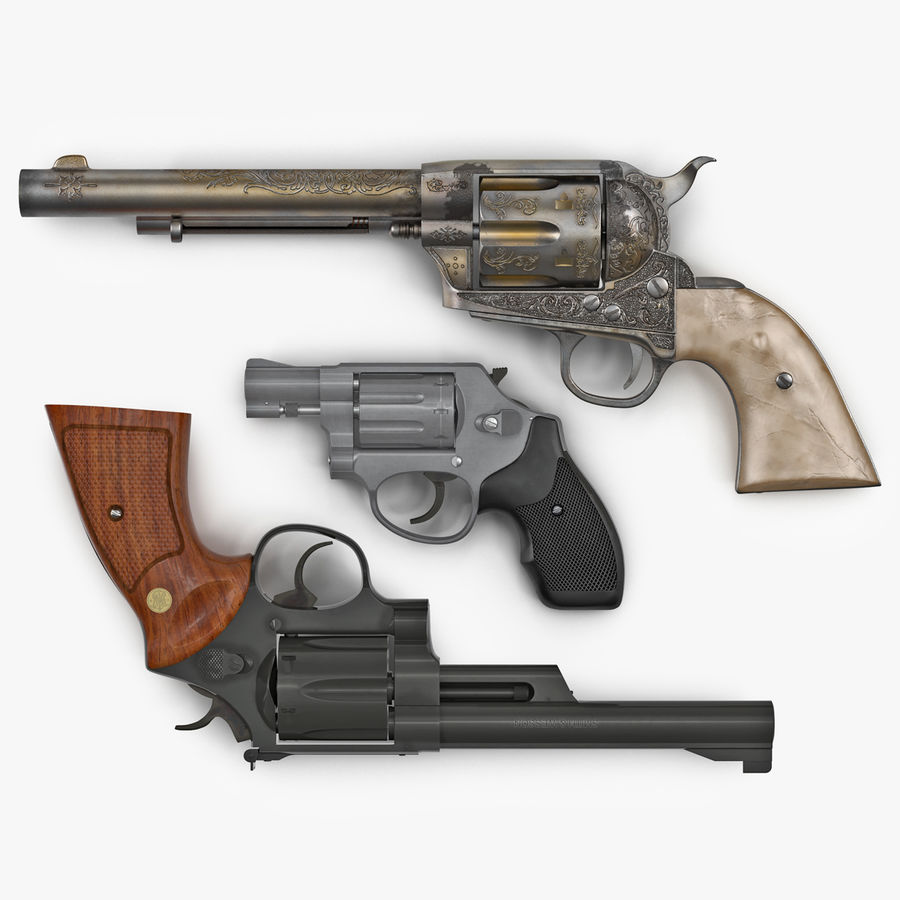 Revolvers-collectie royalty-free 3d model - Preview no. 1