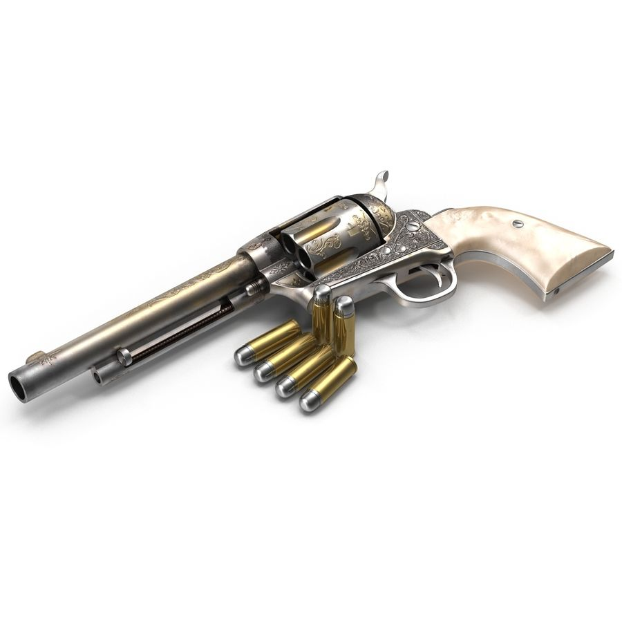 Revolvers-collectie royalty-free 3d model - Preview no. 23