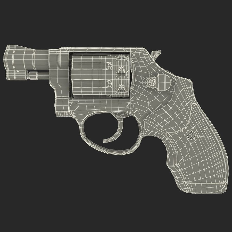 Revolvers-collectie royalty-free 3d model - Preview no. 87