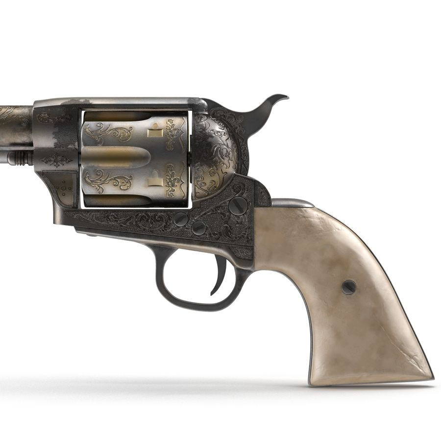 Revolvers-collectie royalty-free 3d model - Preview no. 14
