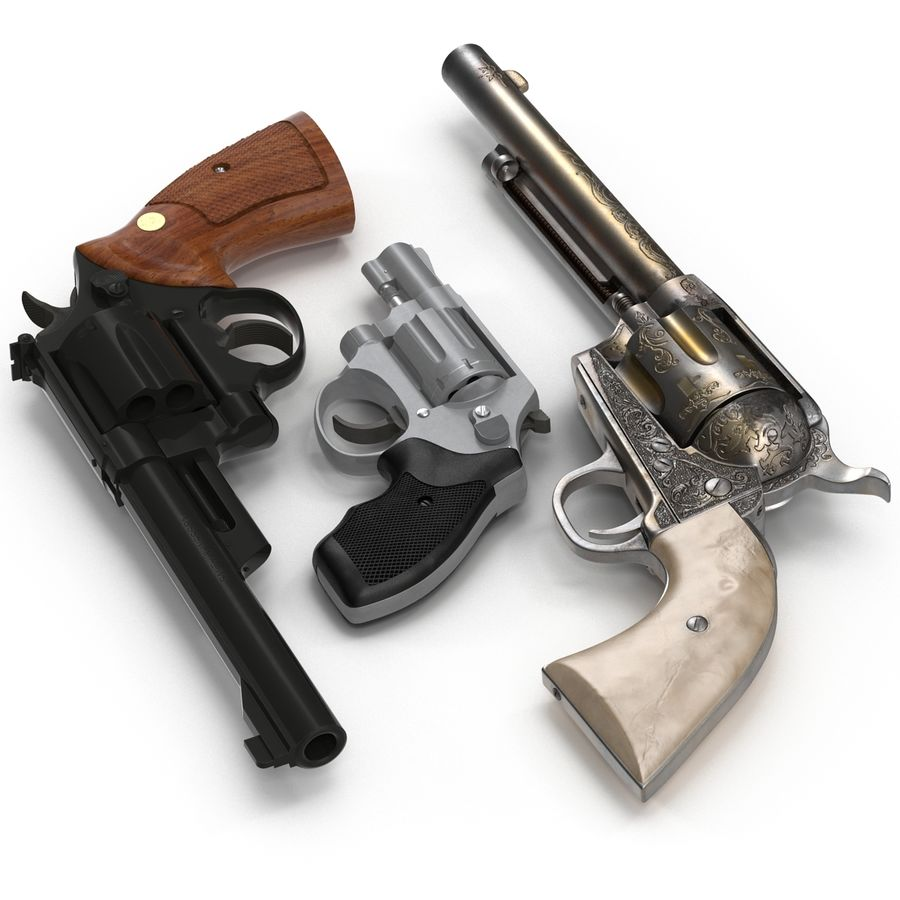 Revolvers-collectie royalty-free 3d model - Preview no. 4