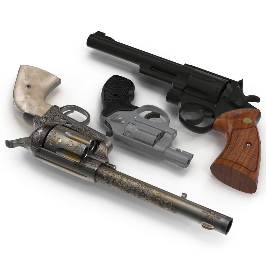 Revolvers-collectie royalty-free 3d model - Preview no. 6