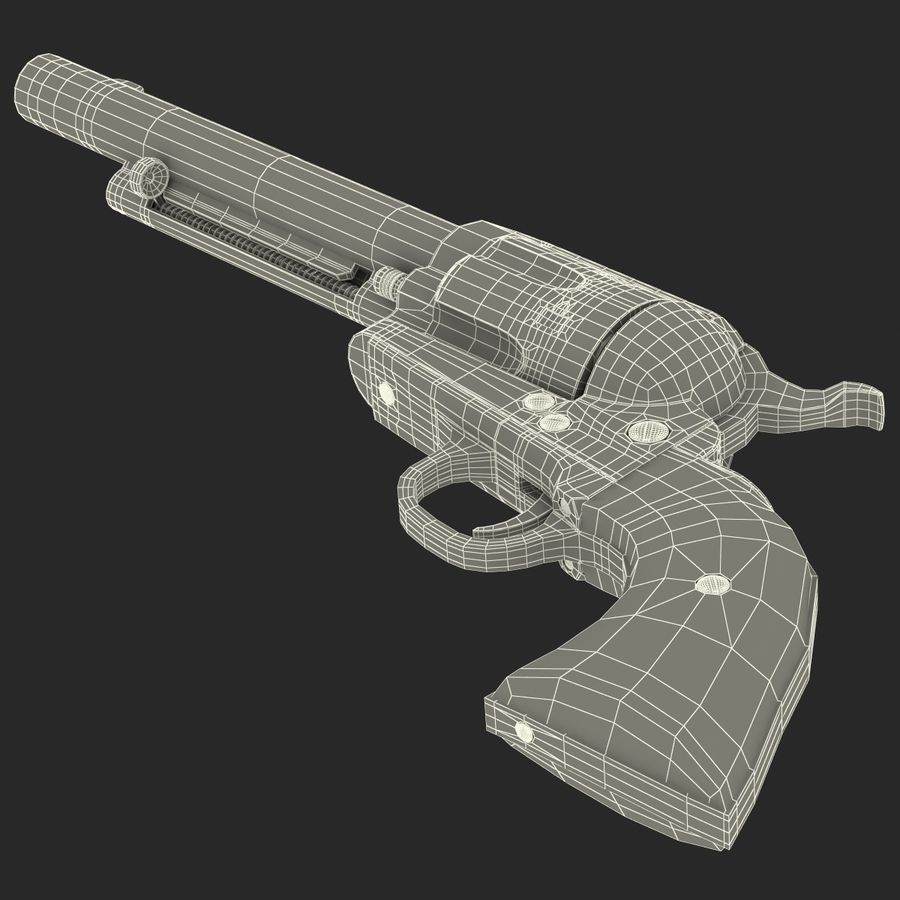 Revolvers-collectie royalty-free 3d model - Preview no. 82