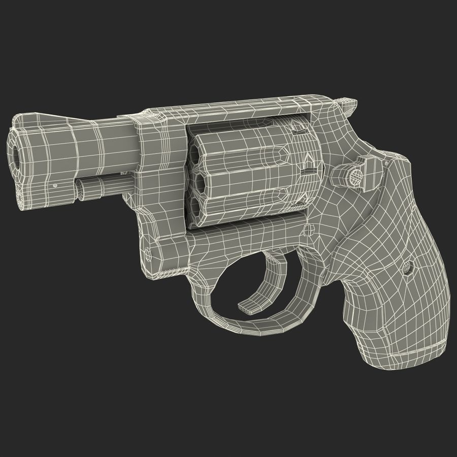 Revolvers-collectie royalty-free 3d model - Preview no. 91