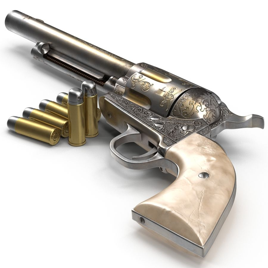 Revolvers-collectie royalty-free 3d model - Preview no. 24