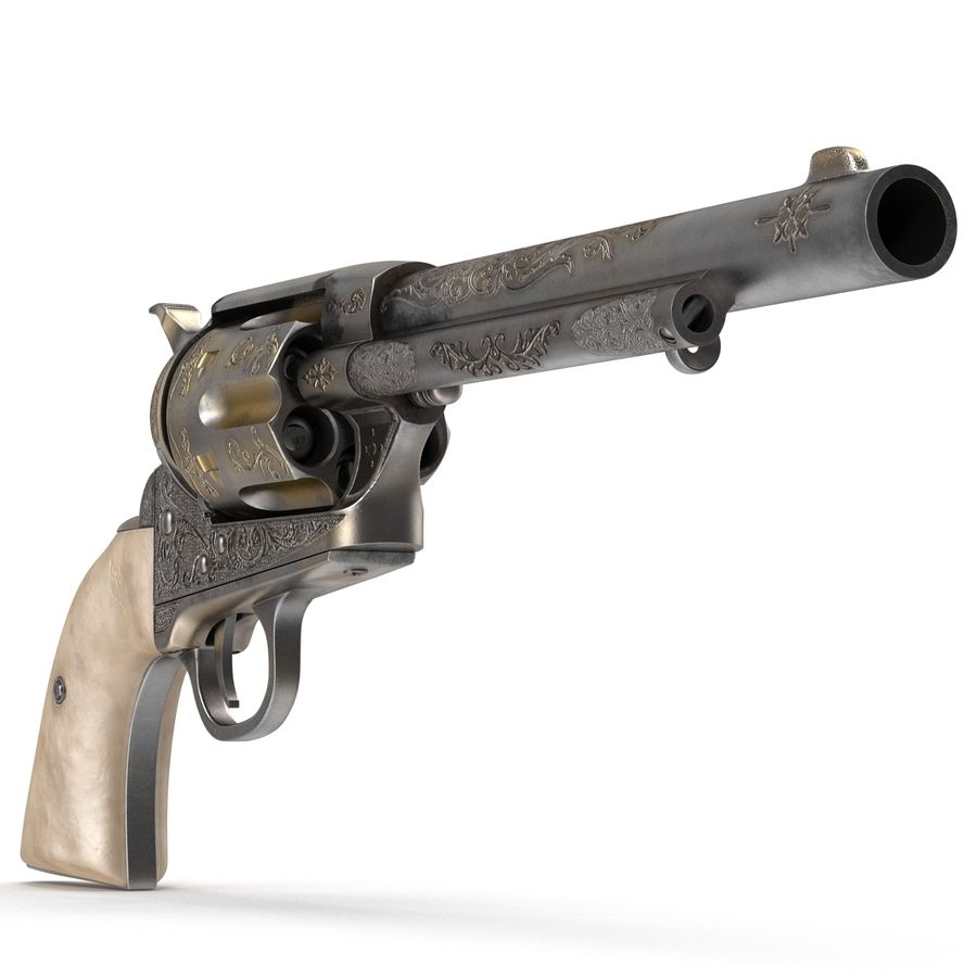 Revolvers-collectie royalty-free 3d model - Preview no. 10