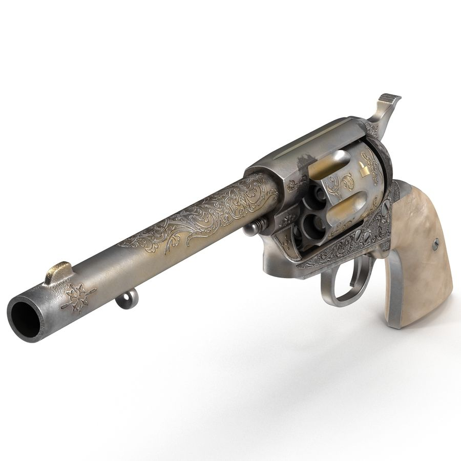 Revolvers-collectie royalty-free 3d model - Preview no. 12