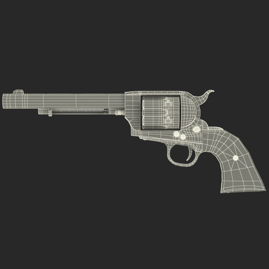 Revolvers-collectie royalty-free 3d model - Preview no. 81