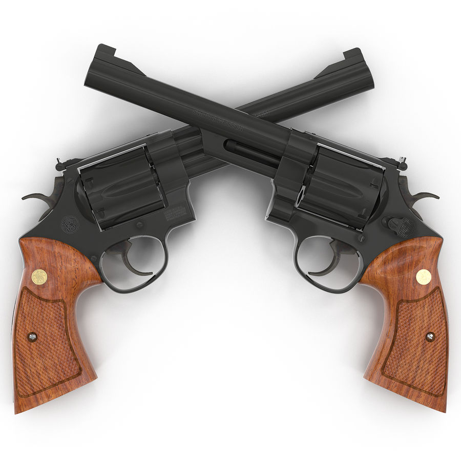 Revolvers-collectie royalty-free 3d model - Preview no. 31