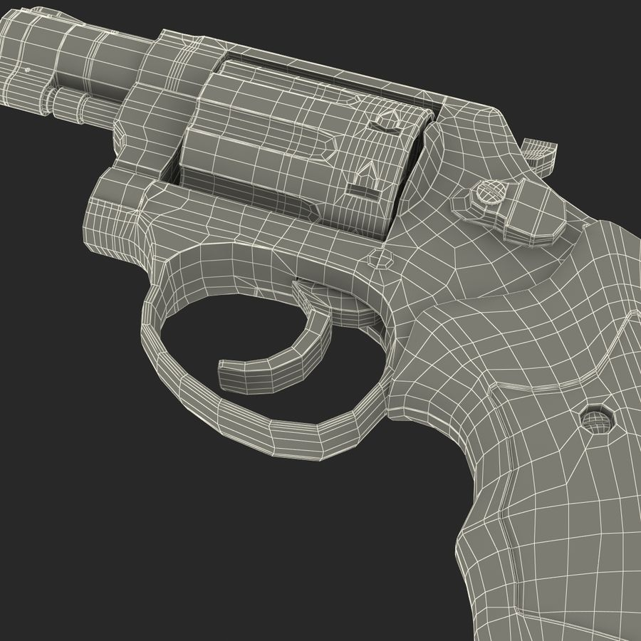 Revolvers-collectie royalty-free 3d model - Preview no. 90
