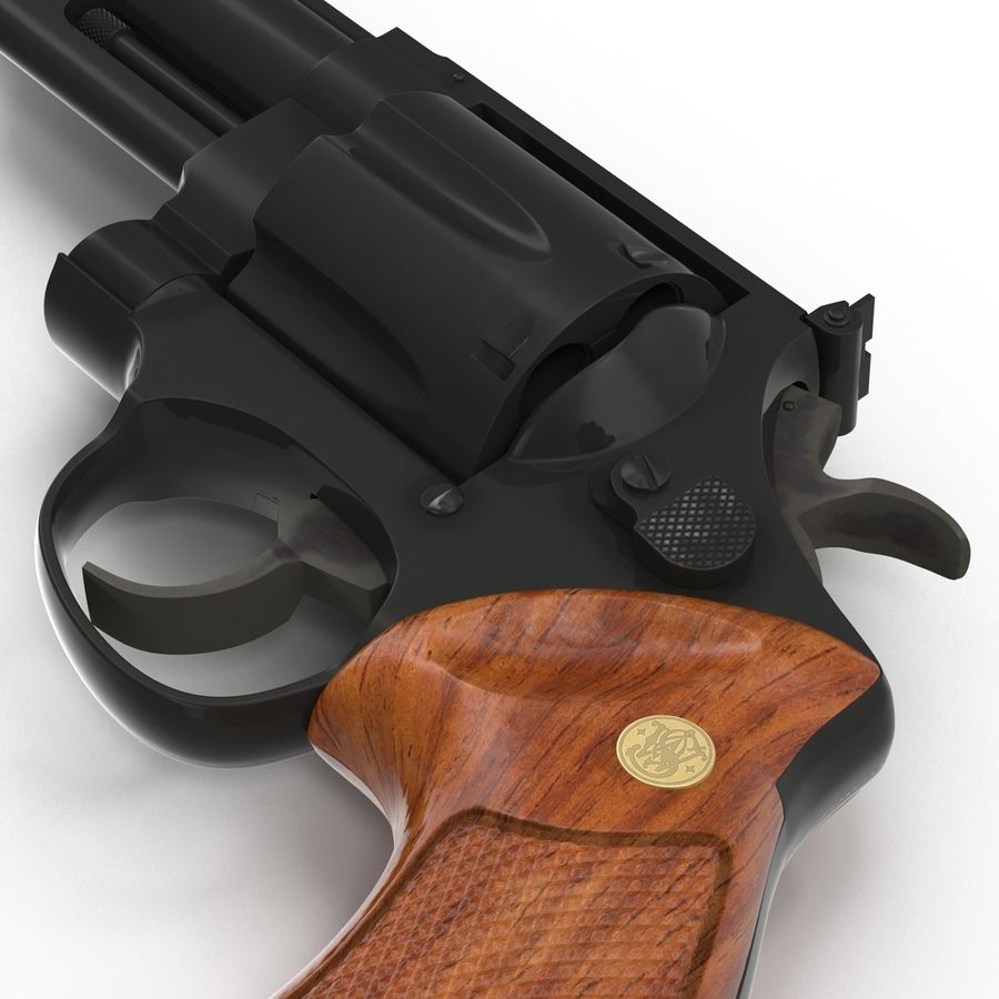 Revolvers-collectie royalty-free 3d model - Preview no. 39