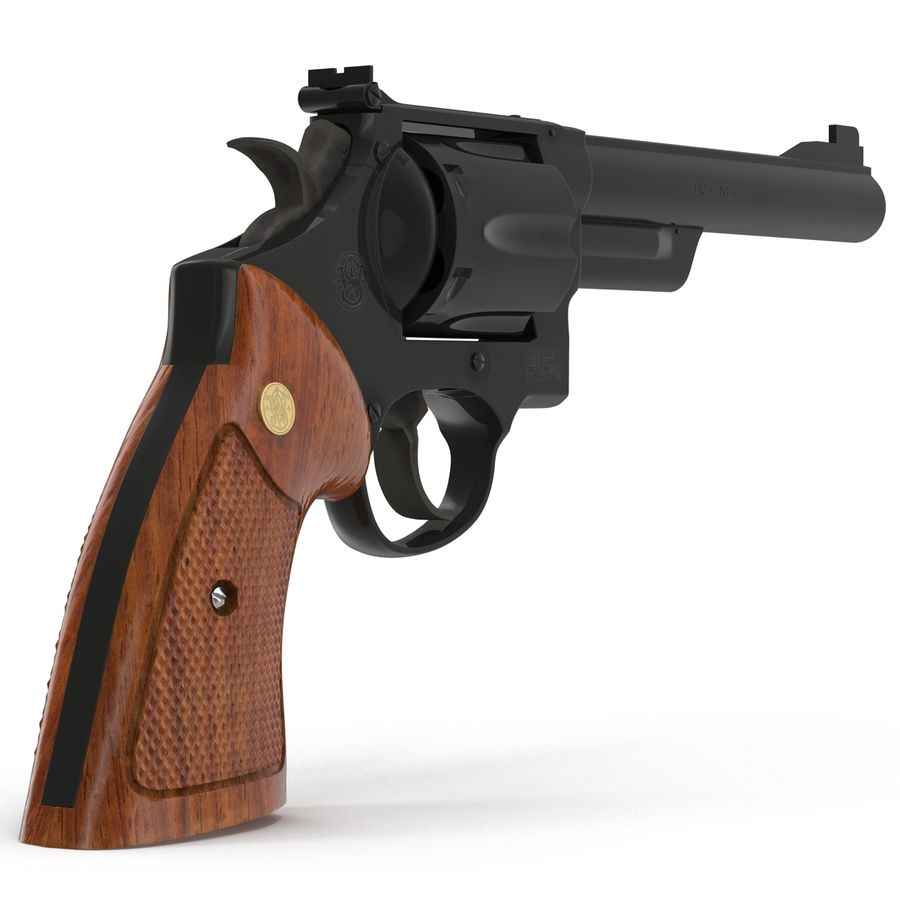 Revolvers-collectie royalty-free 3d model - Preview no. 35
