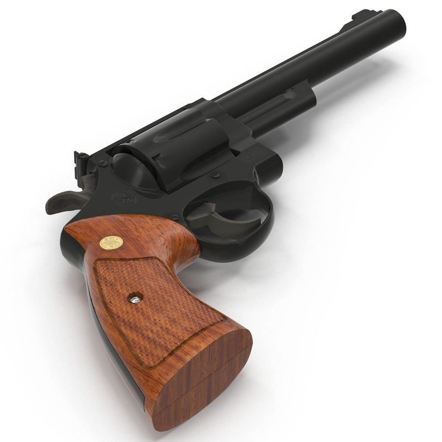 Revolvers-collectie royalty-free 3d model - Preview no. 44