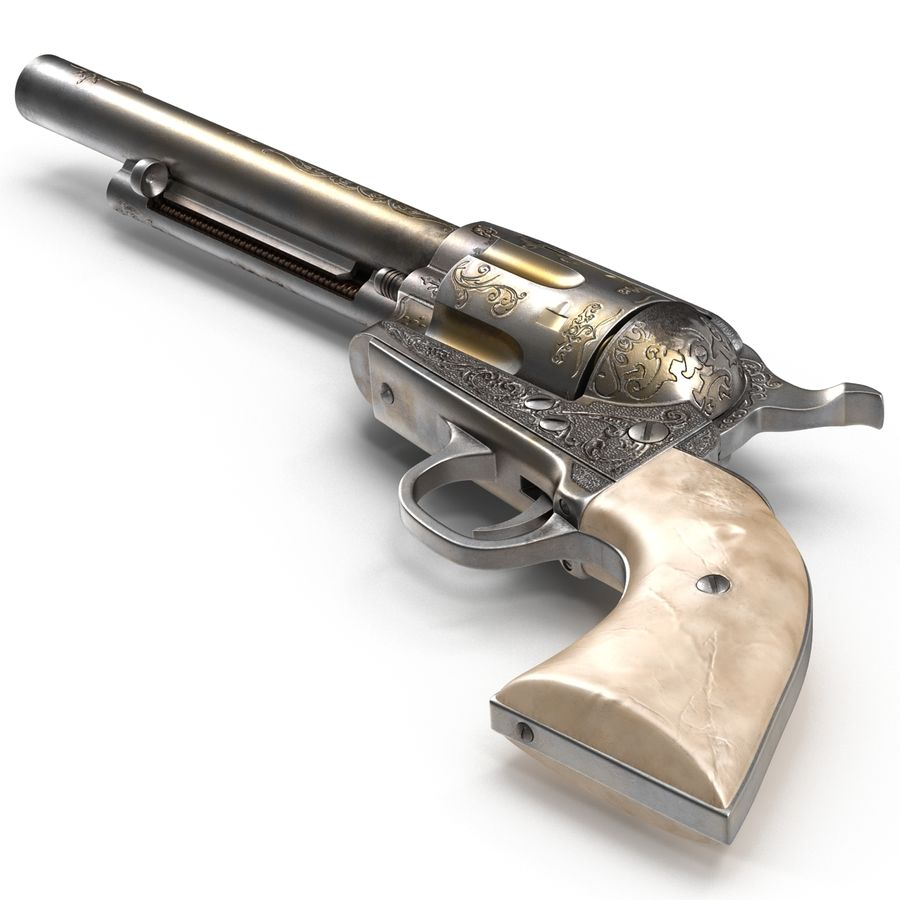 Revolvers-collectie royalty-free 3d model - Preview no. 19