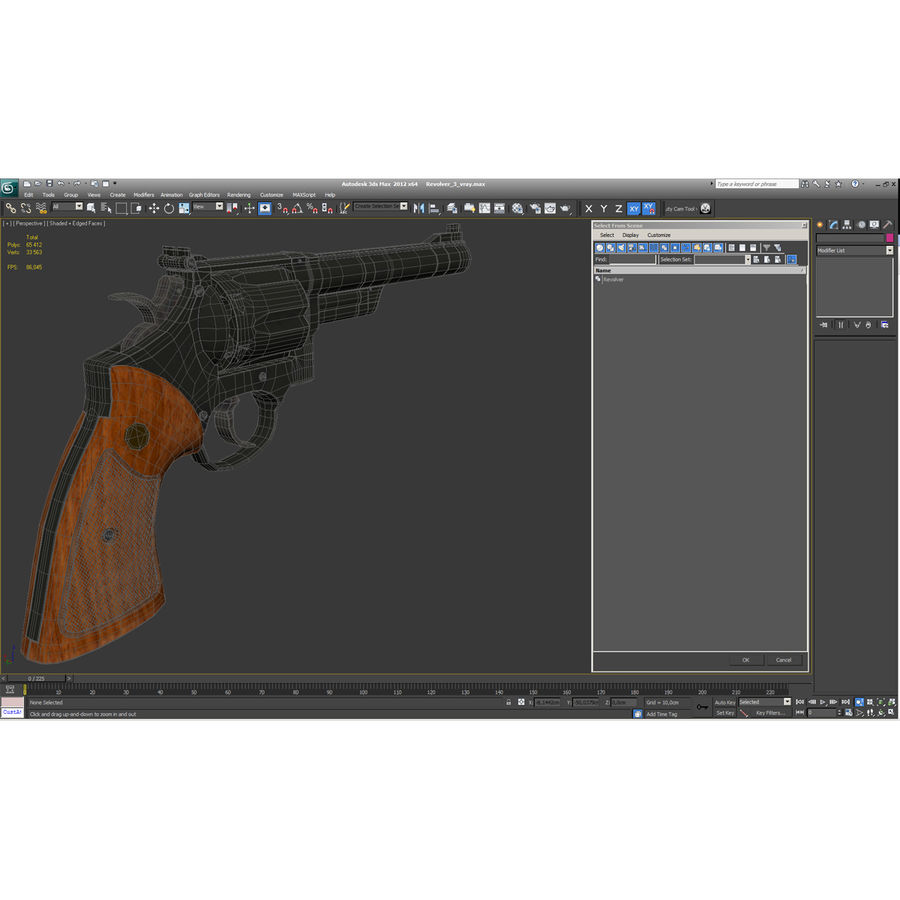Revolvers-collectie royalty-free 3d model - Preview no. 77
