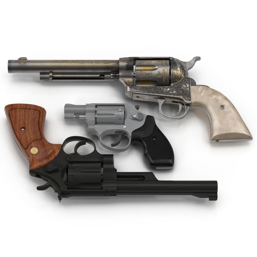 Revolvers-collectie royalty-free 3d model - Preview no. 3