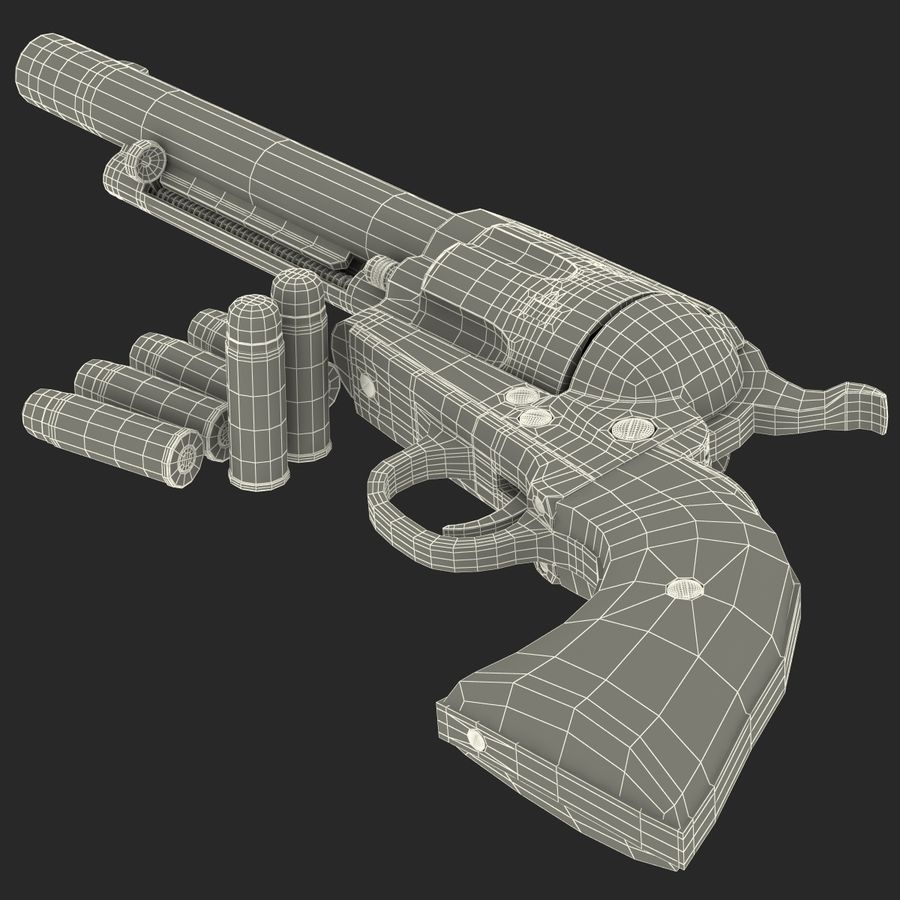 Revolvers-collectie royalty-free 3d model - Preview no. 83