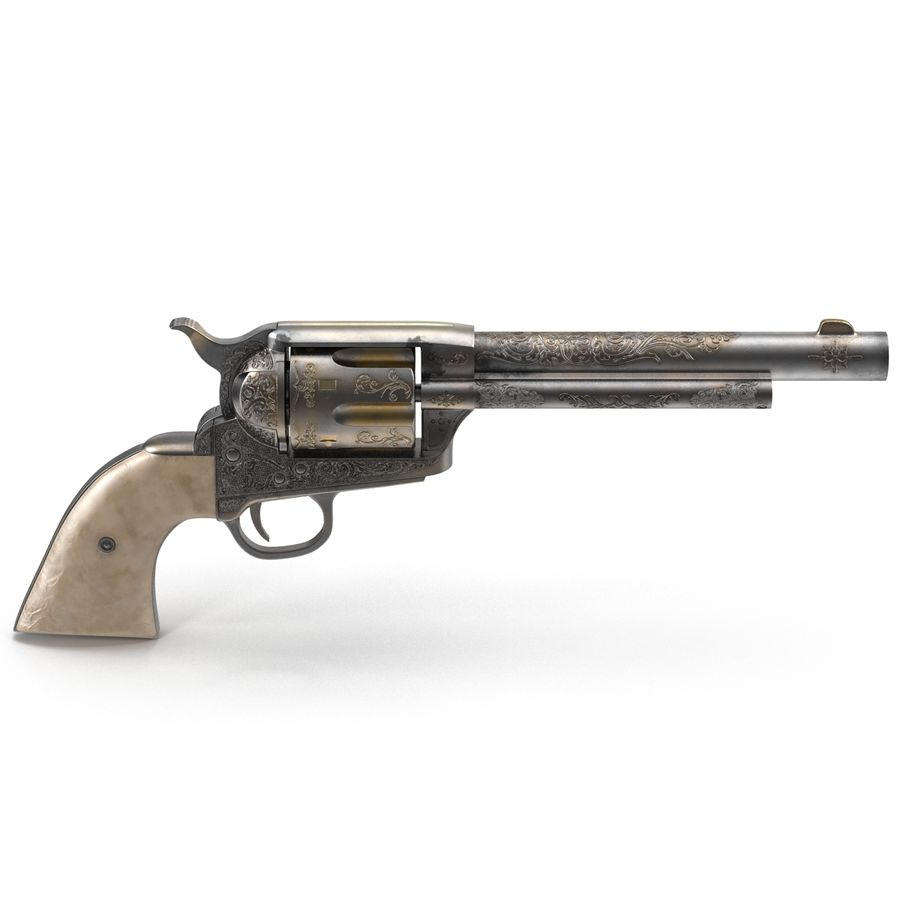 Revolvers-collectie royalty-free 3d model - Preview no. 8