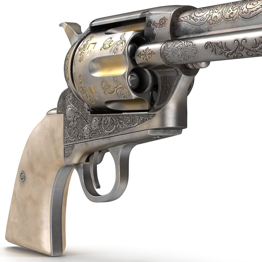 Revolvers-collectie royalty-free 3d model - Preview no. 17