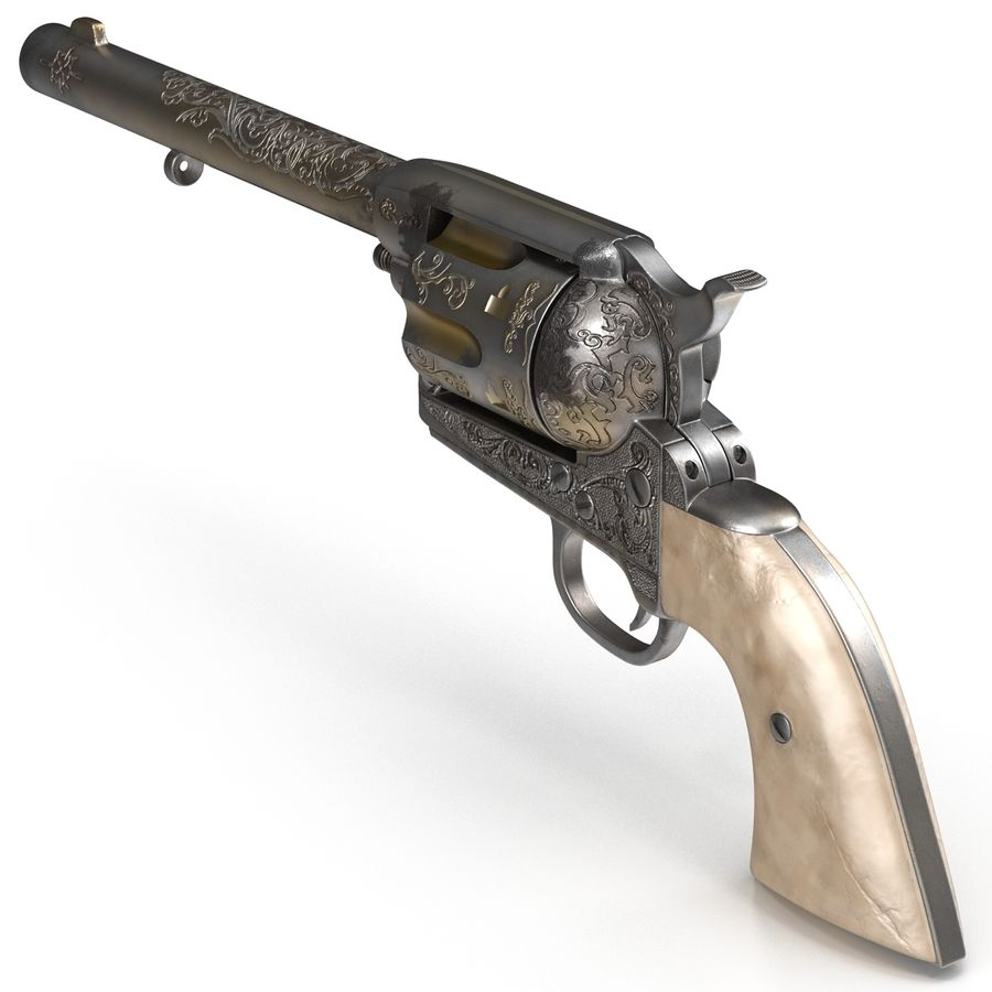 Revolvers-collectie royalty-free 3d model - Preview no. 13