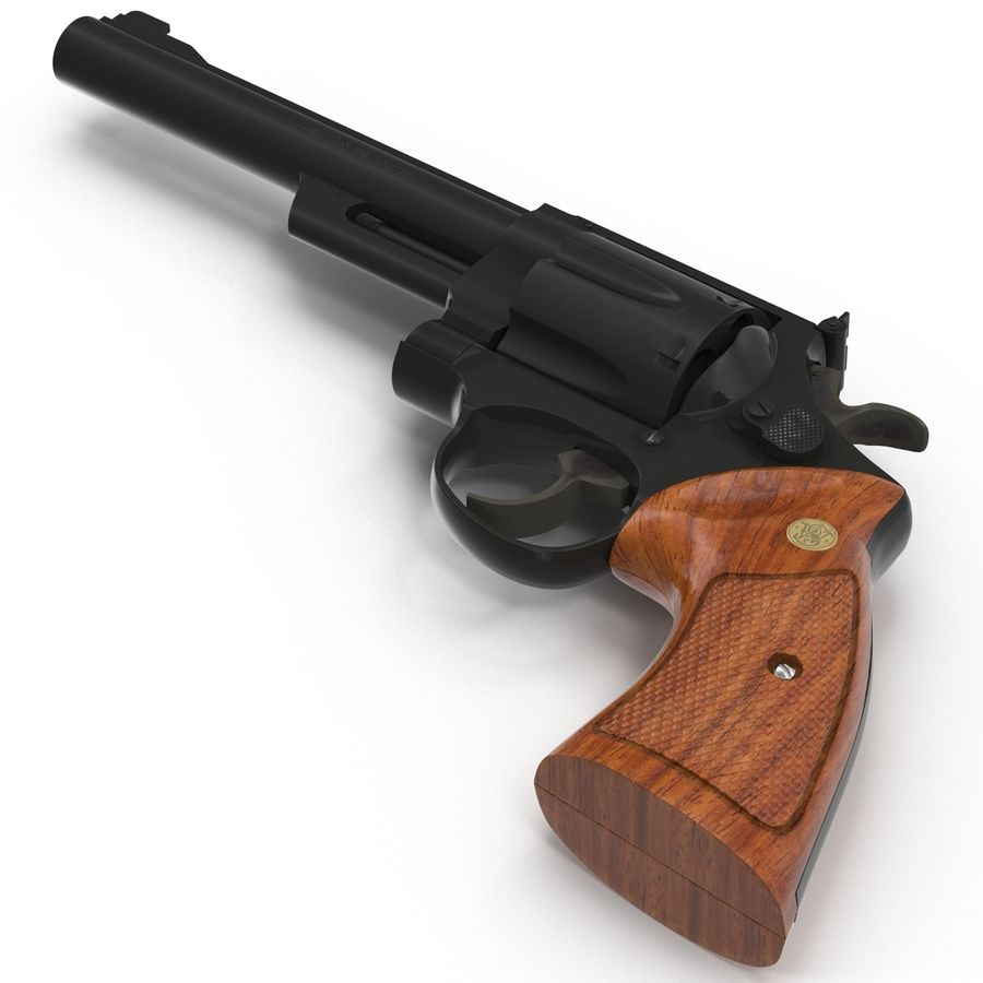 Revolvers-collectie royalty-free 3d model - Preview no. 36