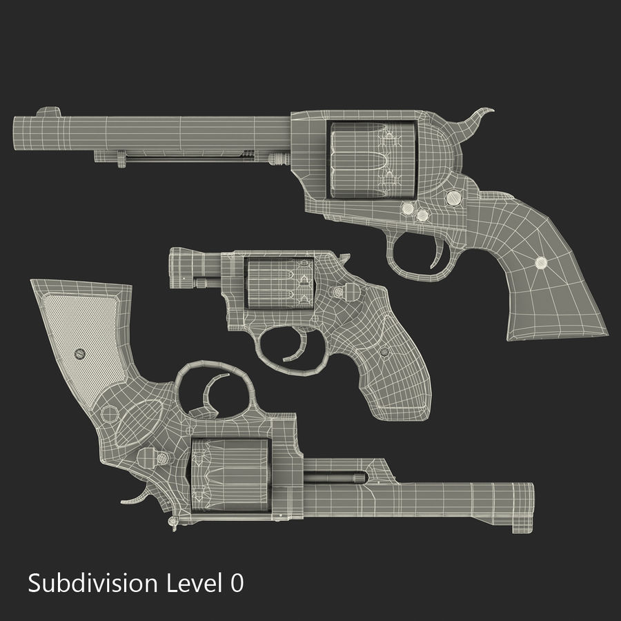 Revolvers-collectie royalty-free 3d model - Preview no. 63