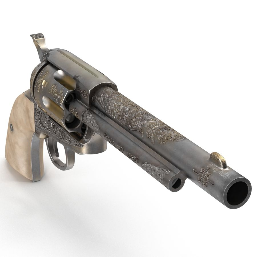 Revolvers-collectie royalty-free 3d model - Preview no. 9
