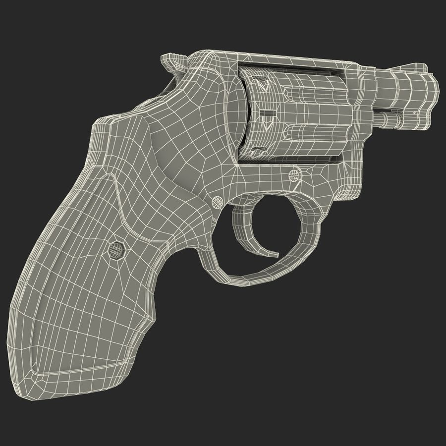 Revolvers-collectie royalty-free 3d model - Preview no. 92