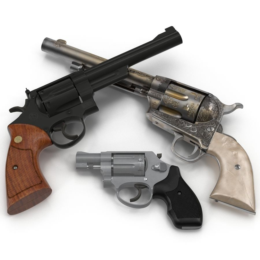 Revolvers-collectie royalty-free 3d model - Preview no. 5