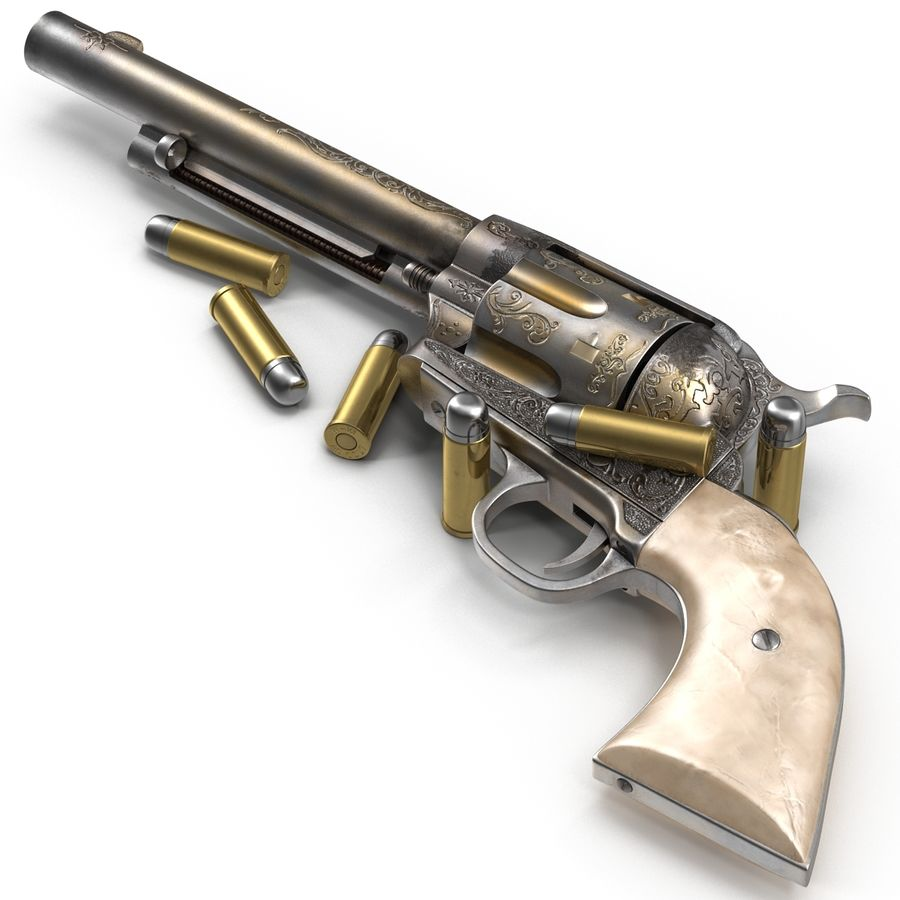 Revolvers-collectie royalty-free 3d model - Preview no. 28