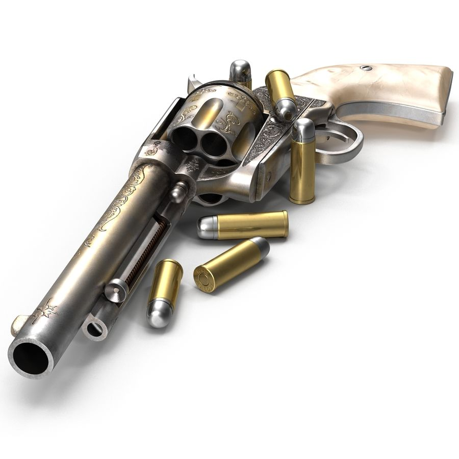 Revolvers-collectie royalty-free 3d model - Preview no. 29