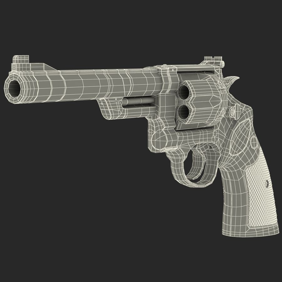 Revolvers-collectie royalty-free 3d model - Preview no. 85