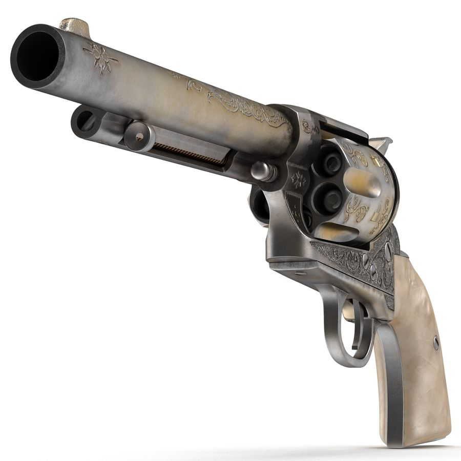 Revolvers-collectie royalty-free 3d model - Preview no. 11
