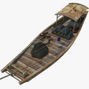 중국 보트 4 3d model