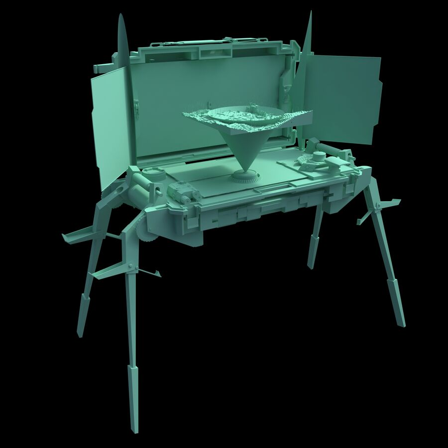 Sci-Fi Mobile Command Center royalty-free 3d model - Preview no. 9