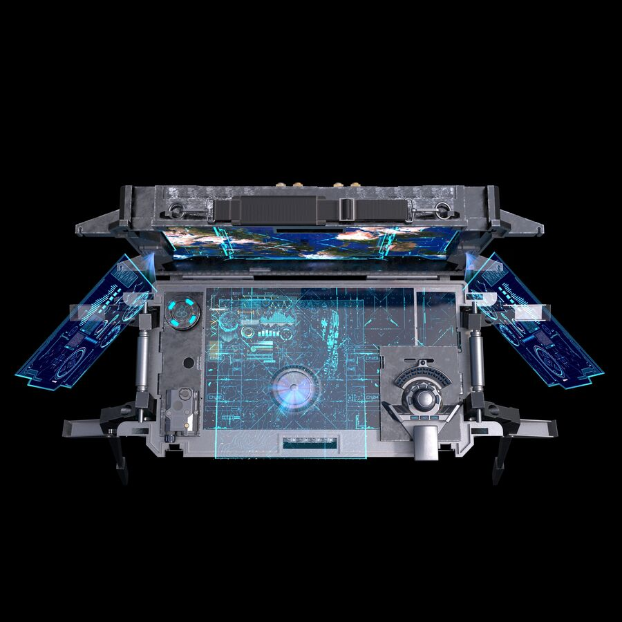 Sci-Fi Mobile Command Center royalty-free 3d model - Preview no. 7