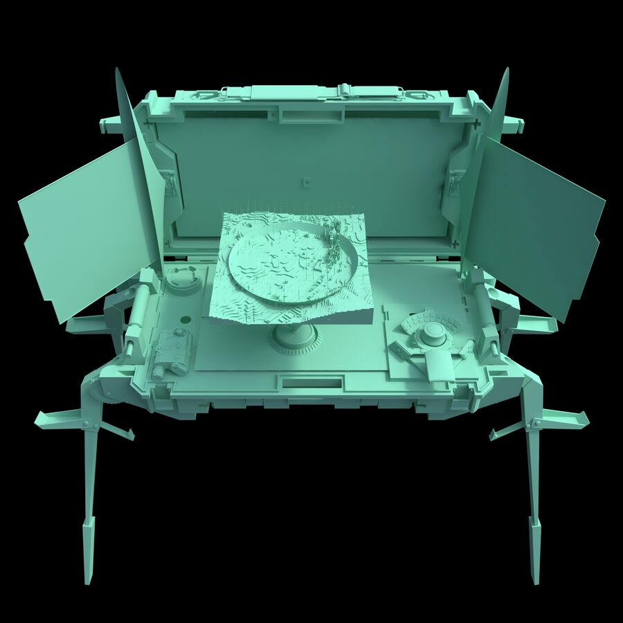 Sci-Fi Mobile Command Center royalty-free 3d model - Preview no. 10