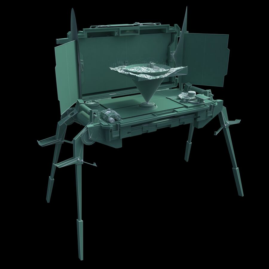 Sci-Fi Mobile Command Center royalty-free 3d model - Preview no. 12