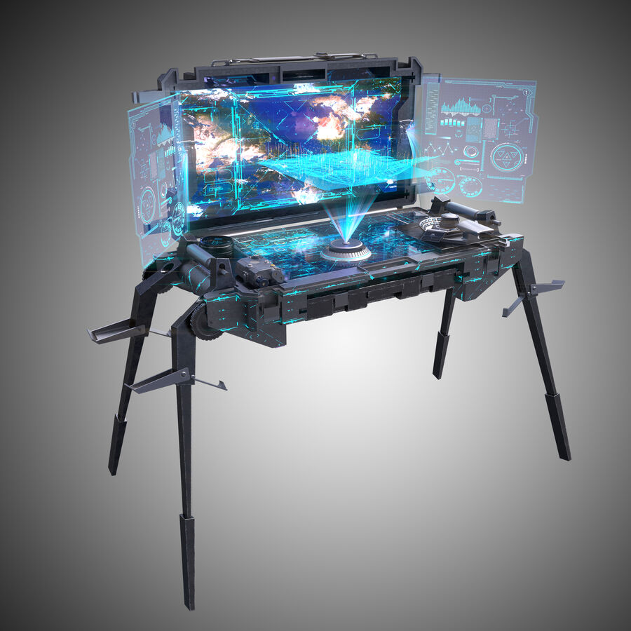 Sci-Fi Mobile Command Center royalty-free 3d model - Preview no. 2