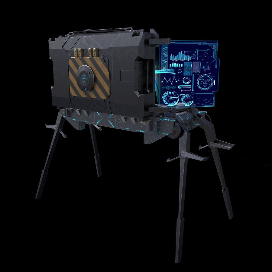 Sci-Fi Mobile Command Center royalty-free 3d model - Preview no. 6