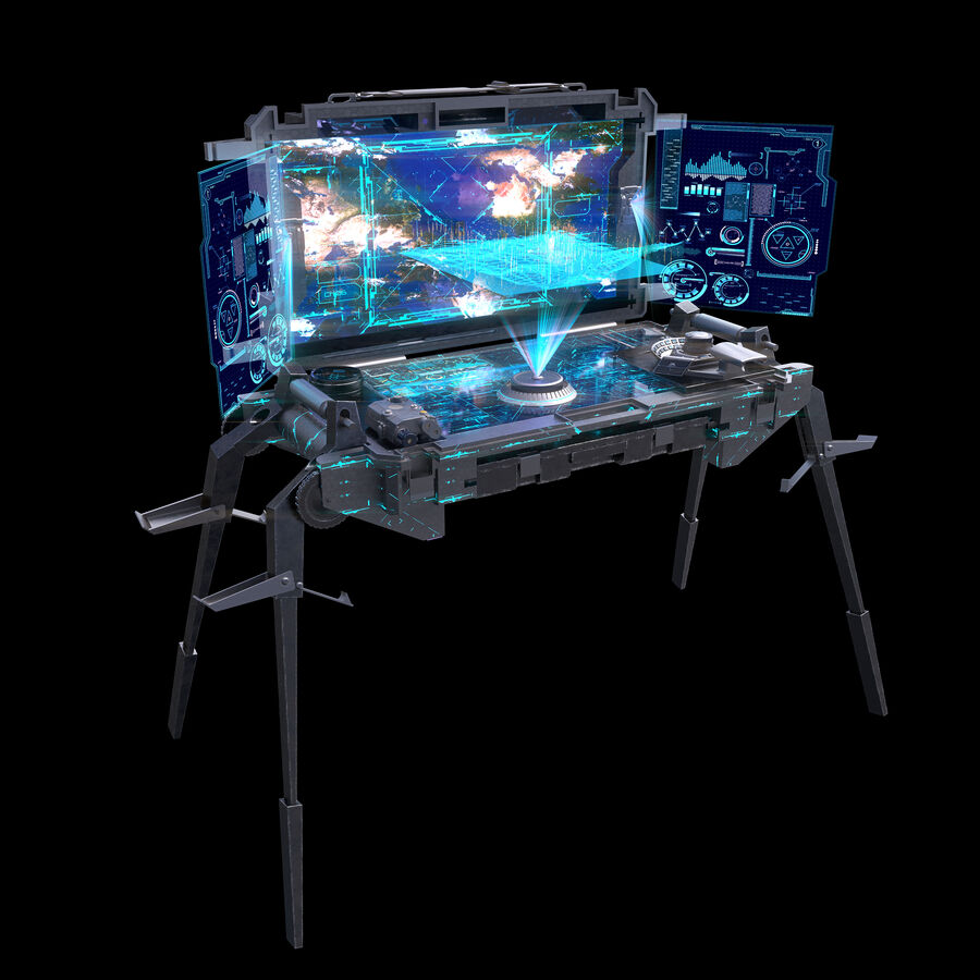 Sci-Fi Mobile Command Center royalty-free 3d model - Preview no. 3
