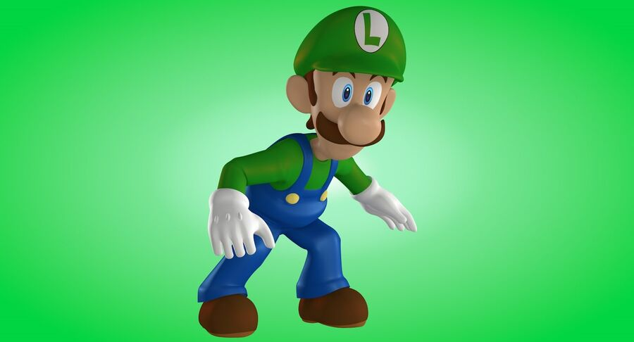 Luigi Rigged royalty-free 3d model - Preview no. 9