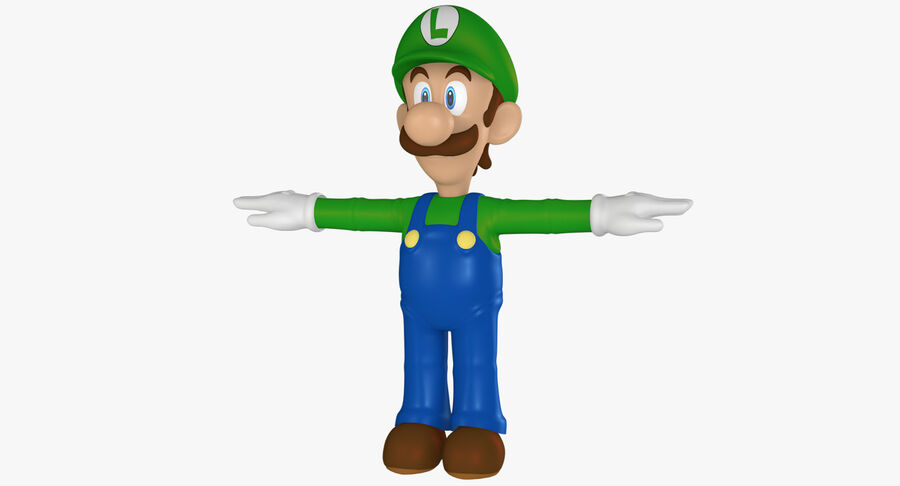 Luigi Rigged royalty-free 3d model - Preview no. 2