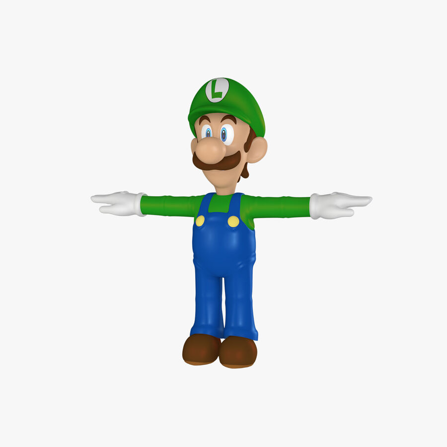 Luigi Rigged royalty-free 3d model - Preview no. 1